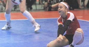Tiffany Clark is an uber libero during the club season but will attack for No. 80 Benet