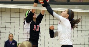 Anna Walsh (12) of Colleyville Heritage and Kylie Pickrell of Coppell were teammates on TAV 17 Black' national championship team but will square off as district foes during the high school season.