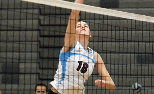 Sophomore Jacqueline Askin had a big hand in Assumption's third Fall Classic win since 2005