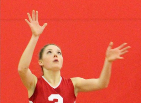 Olivia Brodt is a four-figure setter for Barnstable