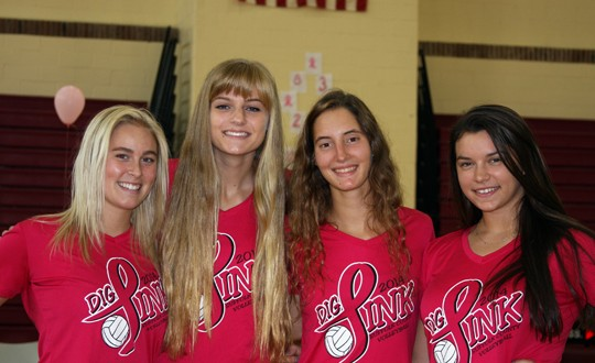 New York's Bayshore HS raised almost $1,400 at its Dig Pink event Oct. 9, one of countless such events in October designed to both promote breast cancer awareness and raise funds for a cure