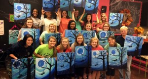 "The Dorman Cavaliers played in a tourney in Atlanta last weekend and took time away from the court to do some painting at Majestic Masterpieces.""It was really interesting to see each player's approach to painting,"" said Dorman coach Paula KIrkland."