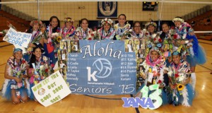 No. 9 Kamehameha honored its seniors recently in a ceremony that was uniquely Hawaiian