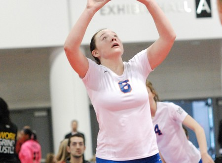 Setter Meghan Cotant and the rest of her Legacy 18 Elite teammates produced a nail-biter against Front Range and are positioned well heading into Day 3.