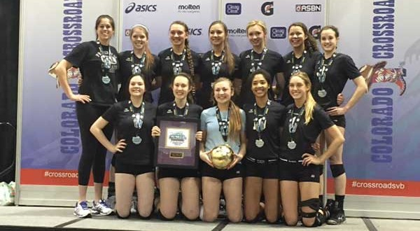 Colorado Jrs 17Tara on the medal stand after taking home gold in 17 USA Division.
