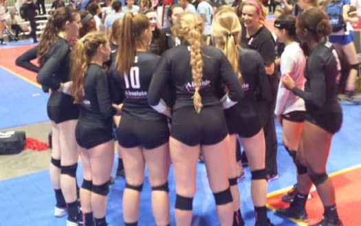 Absolute Black 16-1 was all smiles after winning its final Round 2 pool match to stay in the hunt for a bid. However, Absolute's qualifying hopes hit a bump when falling to CoJrs to open gold pool play Saturday evening.