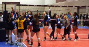 Top Select 16 Elite celebrates after topping Aspire 16 Rox in a one-game playoff Sunday.