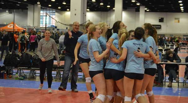 NORCO 18 Black players celebrate after clinching the third and final bid in 18 USA at Crossroads. Playing in 18 Open at PNQ, NORCO looks to surprise the field in Spokane.
