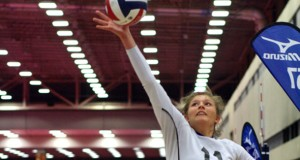 Bailey Downing was part of a strong 1-2 punch in the middle for TAV Black. Photo by Scott White, LoneStarVolleyball.com