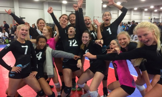 Tstreet 18 players acting goofy after winning the 18 Open Division at Triple Crown in Salt Lake City.