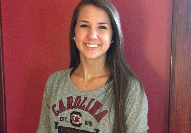 Courtney Koehler is game as a new recruit for South Carolina