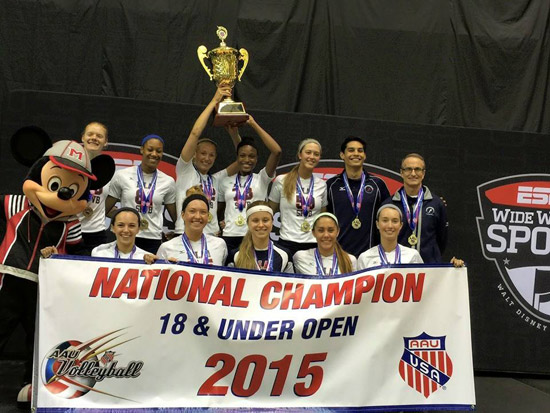 SPVB 18 Elite captured the national championship in 18 Open at AAU, where it also finished second in the International Division.