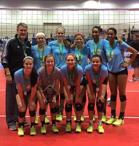 Lexington United 18 Adidas is off to a strong start this season, posing after winning the 18 Open at the Central Zone Invitational.