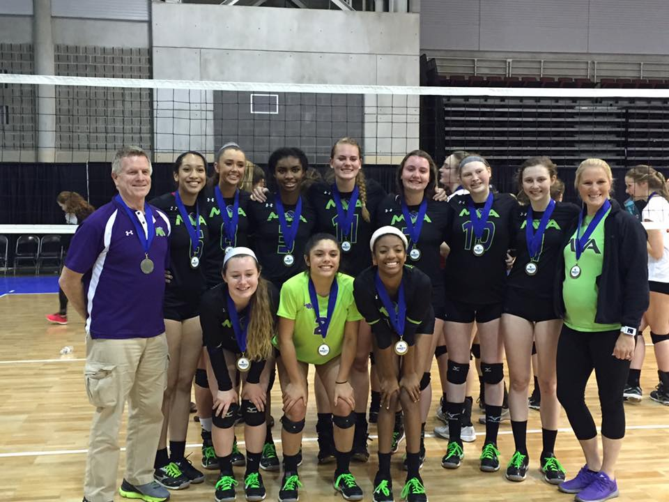 Masters Volleyball Academy after winning gold at the JVA Beach Fest.