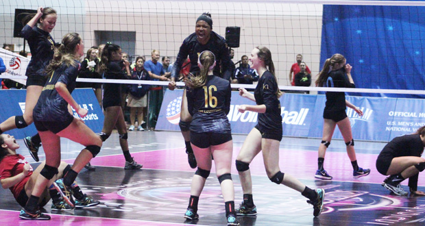 Gjnc Thrilling Conclusion In 16 Usa Prepvolleyball Com Club Volleyball High School Volleyball College Volleyball