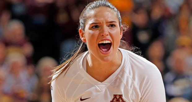 Sarah Wilhite and No. 7 Minnesota have a big opening-weekend showdown with No. 8 Stanford. See who PVB picks to win. (Courtesy Minnesota Athletics)