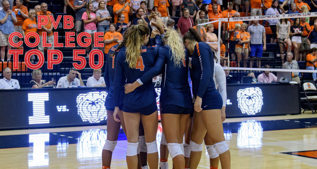 Illinois, after upsetting Purdue, makes a climb in this week's Top 50 Rankings. (Craig Passman, Illinois Athletics)