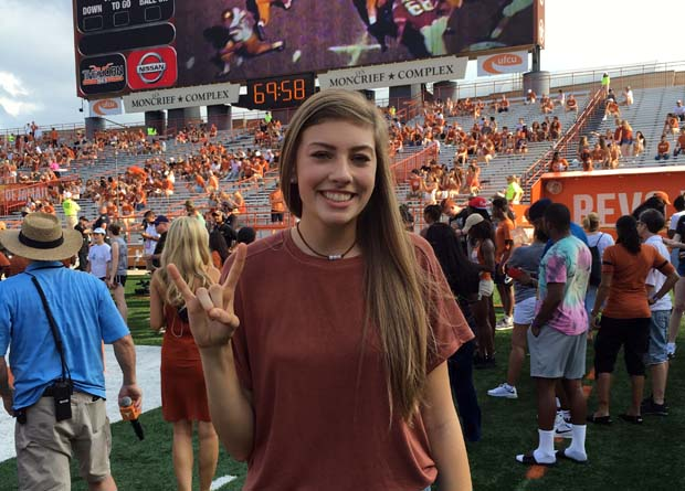Molly Phillips found herself hooked on the home-state Horns. We speak with her below.