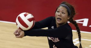 Justine Wong-Orantes and the rest of her Nebraska teammates play hosts to Wisconsin and Minnesota this weekend. (Courtesy of Stephanie Carpenter, Nebraska Communications)