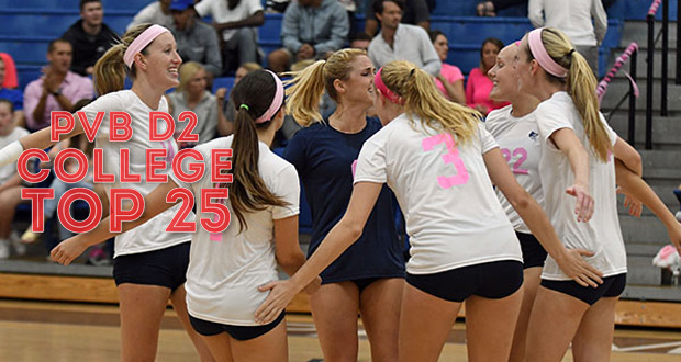 Palm Beach Atlantic ran its winning streak to 23 matches and remained No. 10 in this week's Top 25. (Courtesy of Ron Hilliard, Palm Beach Athletics)
