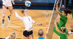 Claire Kieffer-Wright and Michigan are a victory away from reaching the Elite Eight. (Courtesy Michigan Athletics)