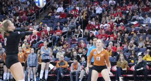 Texas' Cat McCoy takes care of the ball against Nebraska. Can McCoy and the Longhorns finish it Saturday night?