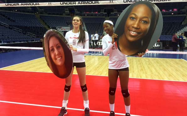Lauren Witte, left, and Ayanna Swan will play on teams that should be Open qualifiers this year. They will be Ohio State teammates in the fall