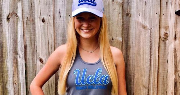 Rileigh Powers going cross-country to get her toes sandy with the Bruins