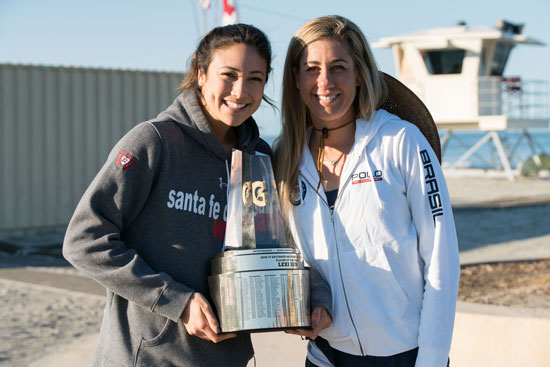 April Ross and Lexi Sun, with the Gatorade National Player of the Year award.