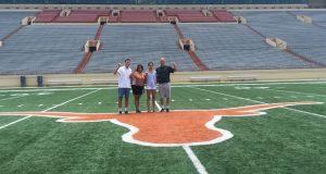Naomi Cabello with the Texas coaches.