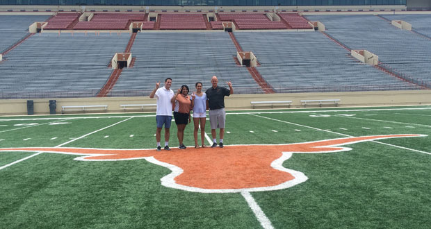 Naomi Cabello with the Texas coaches.