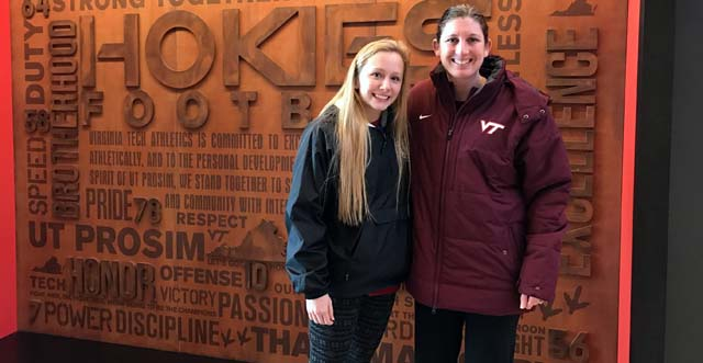 New coach Jill Wilson got a Hokie commitment from Logan Mosley