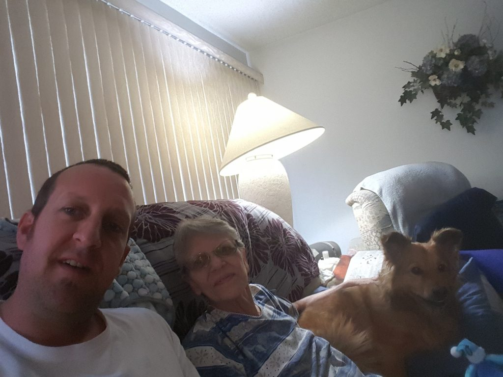 From left to right, PVB writer Chris Tobolski, his mom, Susan, and dog Clowie Bear.