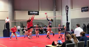Houston Skyline 18 Royal's Avery Skinner – bound for the University of Kentucky – dominated from the outside in a straight-sets win against EXCEL 18 National Red.