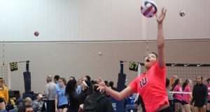 Jazz Sweet, playing for Topeka Impact 18, was impossible not to notice on Day 2 of MEQ.