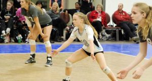 Kayla Dowler (12), Jordan Gower (18) and Daniella McDonald are courting a 16 Open bid after Triangle 16 Black went 2-1 Saturday to get to Gold